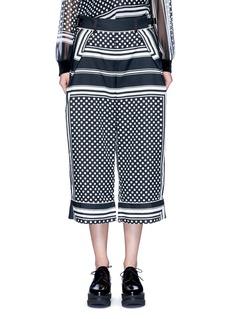 SacaiDot scarf print culottes