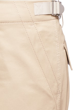 Detail View - Click To Enlarge - Sacai - Strap cotton gabardine flared pants