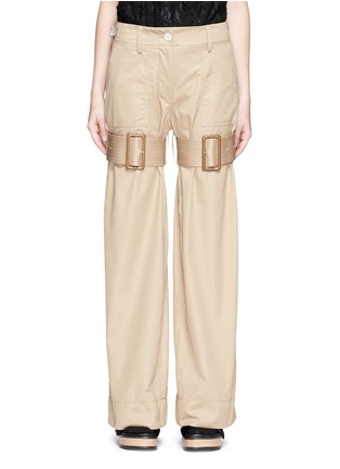 Main View - Click To Enlarge - Sacai - Strap cotton gabardine flared pants