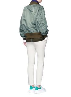 SacaiWool-cashmere knit back jogging pants