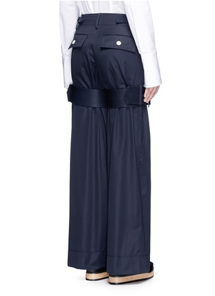 Back View - Click To Enlarge - Sacai - Strap gabardine flared pants