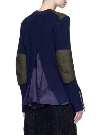 Back View - Click To Enlarge - Sacai - Back split rib knit sweater