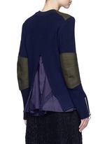 Back split rib knit sweater