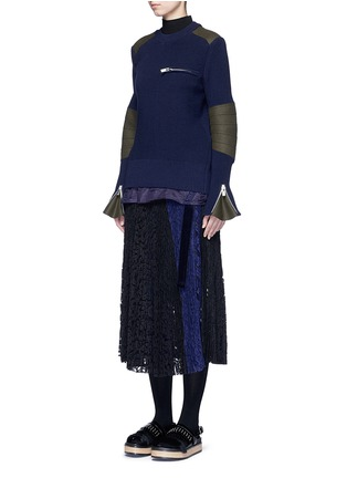 Figure View - Click To Enlarge - Sacai - Back split rib knit sweater