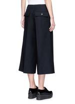 Grommet trim wool flannel culottes