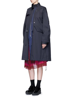 Sacai Nylon vest underlay down padded military coat