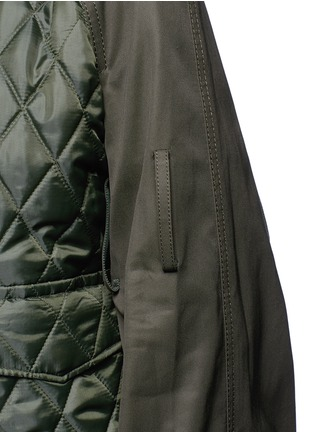 Detail View - Click To Enlarge - Sacai - Sleeve strap quilted bomber jacket