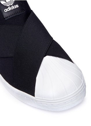 Detail View - Click To Enlarge - Adidas - 'Superstar' crisscross band neoprene slip-ons