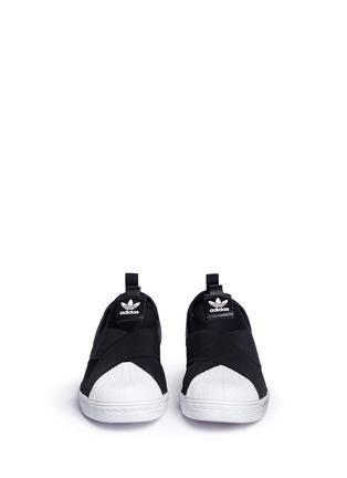 Adidas-'Superstar' crisscross band neoprene slip-ons