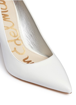 Detail View - Click To Enlarge - Sam Edelman - 'Dea' croc embossed trim leather pumps
