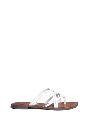 Main View - Click To Enlarge - Sam Edelman - 'Georgette' strappy leather slide sandals