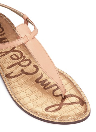 Detail View - Click To Enlarge - Sam Edelman - 'Gigi' leather T-strap sandals