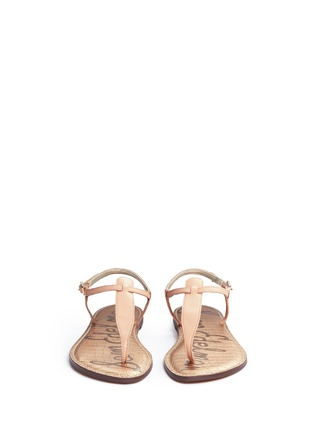 Front View - Click To Enlarge - Sam Edelman - 'Gigi' leather T-strap sandals