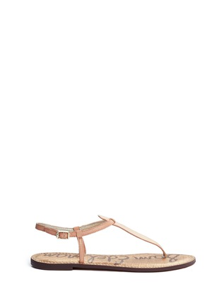Main View - Click To Enlarge - Sam Edelman - 'Gigi' leather T-strap sandals