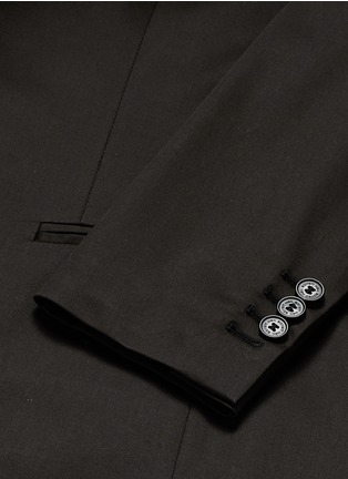 Detail View - Click To Enlarge - Neil Barrett - Layered zip-up vest cotton blazer