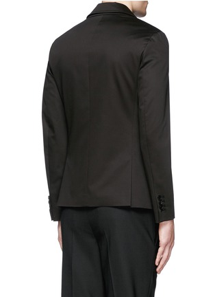 Back View - Click To Enlarge - Neil Barrett - Layered zip-up vest cotton blazer