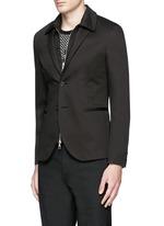 Layered zip-up vest cotton blazer