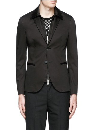 Main View - Click To Enlarge - Neil Barrett - Layered zip-up vest cotton blazer