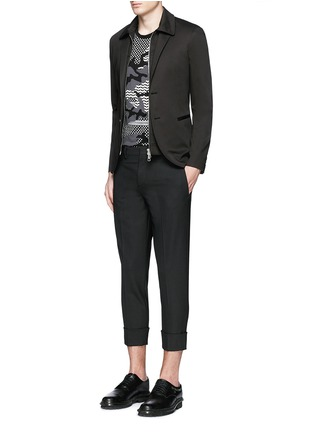 Figure View - Click To Enlarge - Neil Barrett - Layered zip-up vest cotton blazer