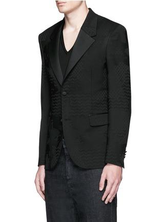 正面 -点击放大 - NEIL BARRETT - 几何叶纹暗花混羊毛礼服外套