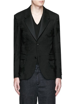首图 - 点击放大 - NEIL BARRETT - 几何叶纹暗花混羊毛礼服外套
