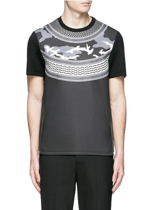 Main View - Click To Enlarge - Neil Barrett - Keffiyeh check camouflage print neoprene T-shirt