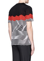 Angular stripe knit top
