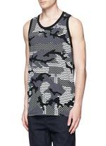 Keffiyeh check camouflage print tank top