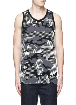 Main View - Click To Enlarge - Neil Barrett - Keffiyeh check camouflage print tank top