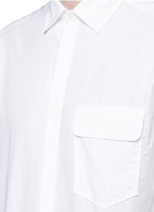 NEIL BARRETT-中袖纯棉衬衫