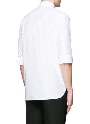 背面 - 点击放大 - NEIL BARRETT - 中袖纯棉衬衫