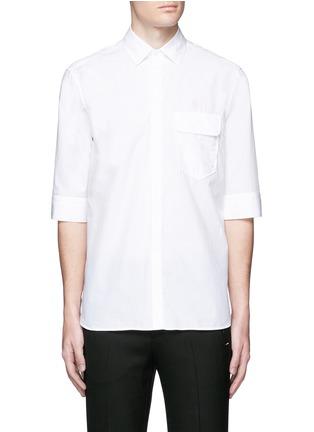 首图 - 点击放大 - NEIL BARRETT - 中袖纯棉衬衫
