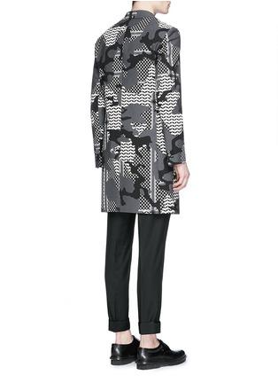 背面 - 点击放大 - NEIL BARRETT - 拼色迷彩花纹混棉大衣