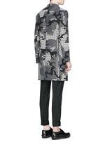 Keffiyeh check camouflage jacquard coat