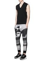 Keffiyeh wave camouflage bonded jersey jogging pants
