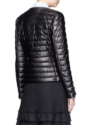 Back View - Click To Enlarge - Moncler - 'Palomete' asymmetric zip padded leather jacket