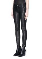 'Skinny' leather pants