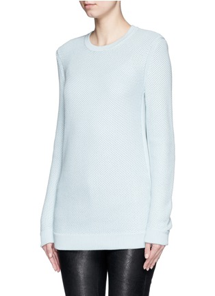 Front View - Click To Enlarge - rag & bone/JEAN - 'Rita' honeycomb knit boyfriend sweater