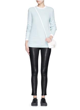 Figure View - Click To Enlarge - rag & bone/JEAN - 'Rita' honeycomb knit boyfriend sweater