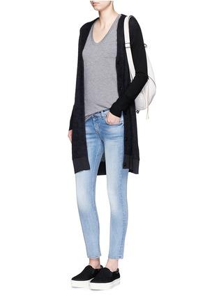 Figure View - Click To Enlarge - rag & bone/JEAN - 'Capri' cropped skinny jeans