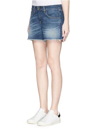 Front View - Click To Enlarge - rag & bone/JEAN - 'Boyfriend' cutoff denim shorts