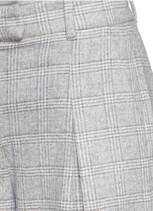Detail View - Click To Enlarge - J.CREW - Collection ultra-wide-leg pant in Glen plaid Italian cashmere
