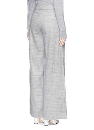 Back View - Click To Enlarge - J.CREW - Collection ultra-wide-leg pant in Glen plaid Italian cashmere