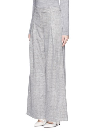 Front View - Click To Enlarge - J.CREW - Collection ultra-wide-leg pant in Glen plaid Italian cashmere
