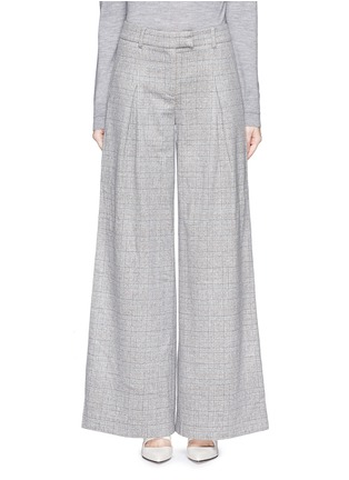 Main View - Click To Enlarge - J.CREW - Collection ultra-wide-leg pant in Glen plaid Italian cashmere
