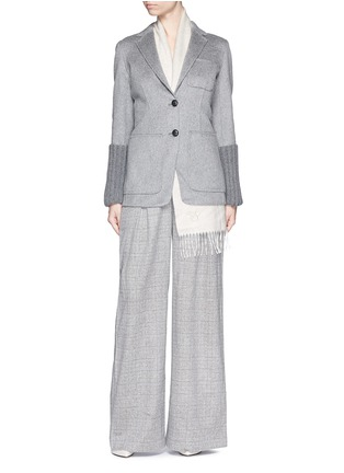 Figure View - Click To Enlarge - J.CREW - Collection ultra-wide-leg pant in Glen plaid Italian cashmere