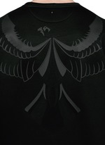 Hawk fused print scuba jersey top