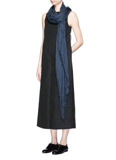 SONG FOR THE MUTEFoldover front cotton-silk culotte jumpsuit