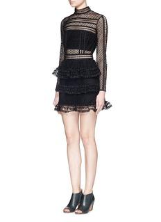 SELF PORTRAITHigh neck guipure lace dress