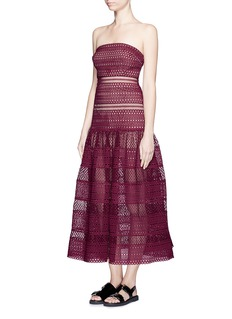 SELF PORTRAIT Circle lace sculptured bandeau dress